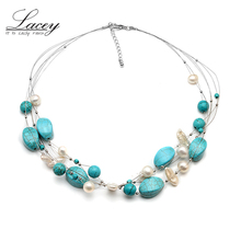 Fashion boho necklace real freshwater pearl necklace baroque,choker layered necklace for women недорго, оригинальная цена