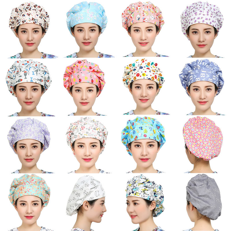3 Packs Surgical Scrub Hats Unisex Medical Hats for Women Men Breathable Nurse Scrub Caps Sweatband Cotton Doctor Caps