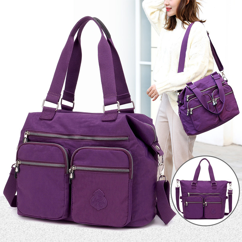 Ladies Designer Tote-Bag Purses Handbags-Shoulder-Bag Satchel Nylon Messenger Large-Capacity