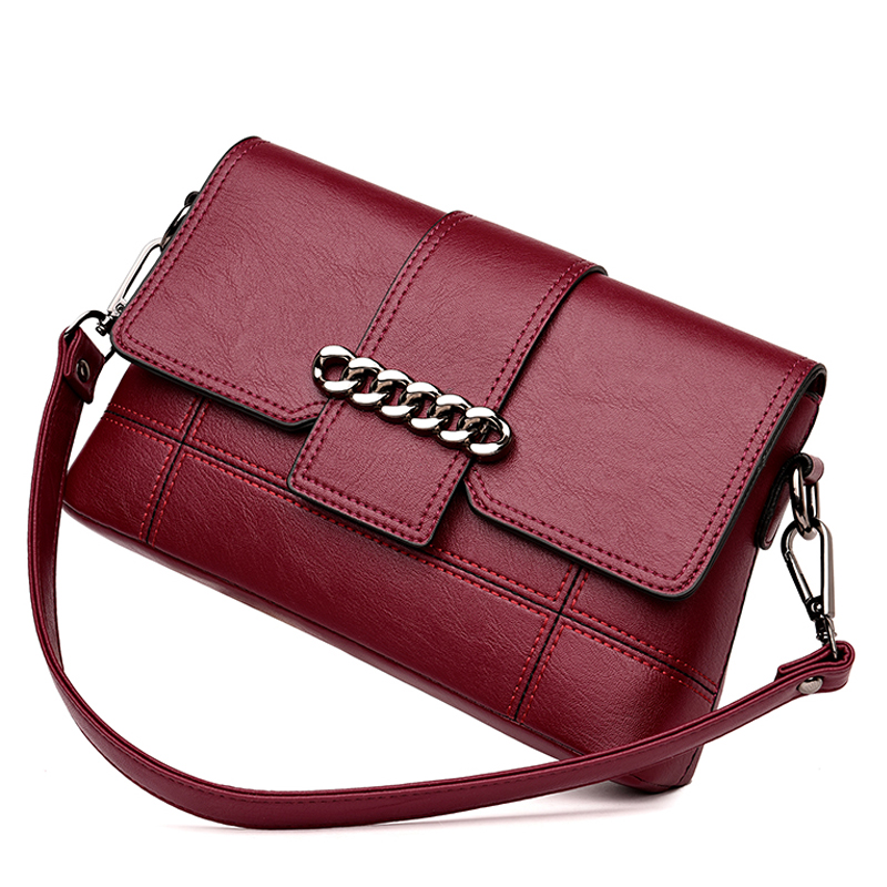 2018 New Fashion Patchwork Women Shoulder Bag High Quality Black Pu Leather Women Handbag Ladies Small Chain Messenger Bags 2017 new simple mini women shoulder bag fashion chain messenger bags high quality pu leather cross body for lady small bag