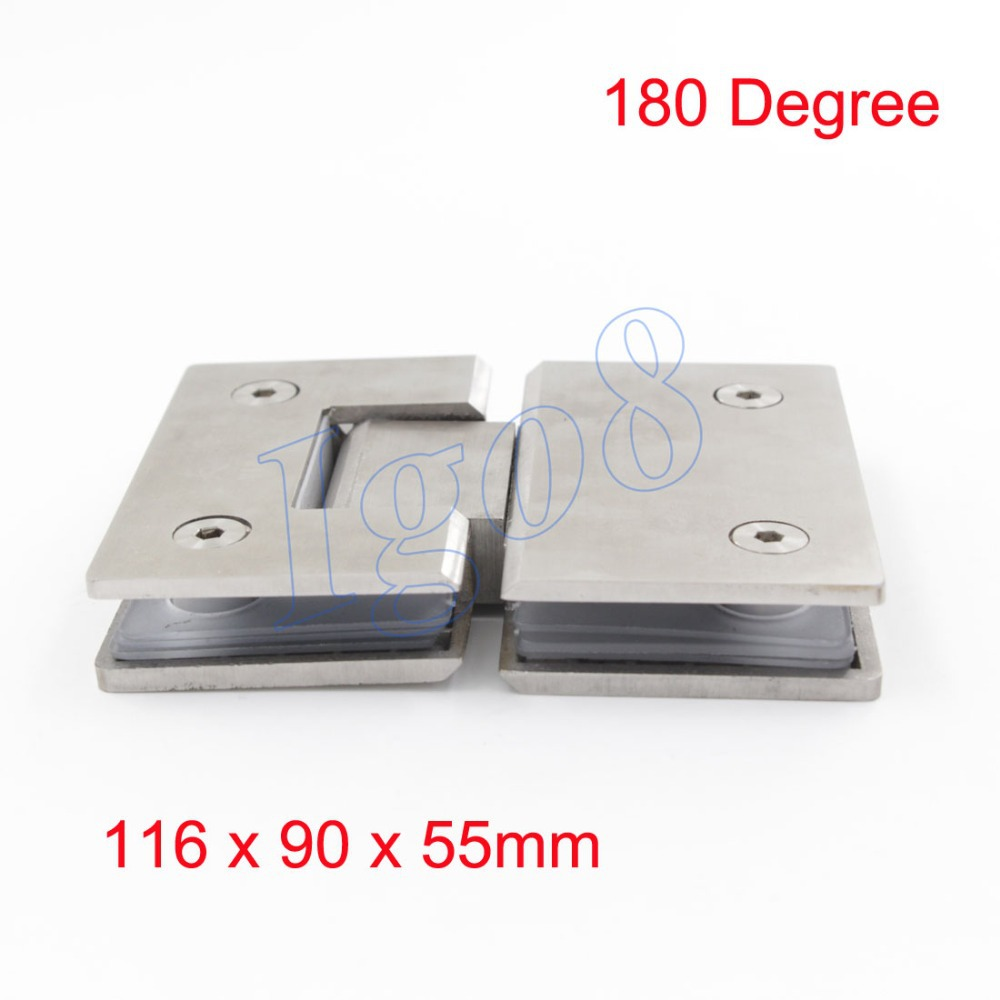 Best Price 202 Stainless Steel Glass Connector 180 Degree Shower Door Hinge Bathroom Glass Door hinge rose gold 180 degree hinge open 304 stainless steel glass shower door hinges for home bathroom furniture hardware hm155