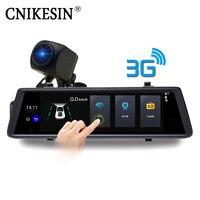 CNIKESIN CUV6 10 дюймов DVR 3g Wi Fi с gps 1080 P HD Автомобильный Камера Android Системы Авто Регистраторы сзади Vie двойной объектив заднего вида Камера