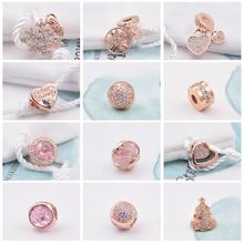 FirstQueen Factory Wholesale 100% Rose Gold Plated Charm Bead Fit  Bracelet Christmas Charms DIY Gift Fine Jewelry