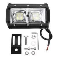 2pcs 5inch 32LED Headlight Work Light Lamp Bar for 12V 24V Car Truck Offroad ATV UTV SUV Tractor Water resistant anti corrosion