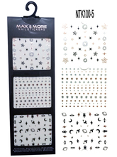 3 sheets New Fashion 3D Stickers For Nails Tips Star&Moon&Earth Decals Wraps Nail Art Tattoos Decoration DIY Nail Tools NTK100-5 стоимость