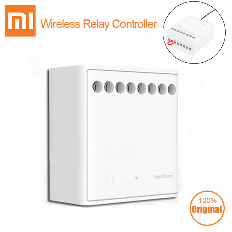 Xiaomi Mijia Aqara Eigenstone Two way control module Wireless Relay Controller 2 channels Work For Mijia Home Kit-in Smart Remote Control from Consumer Electronics