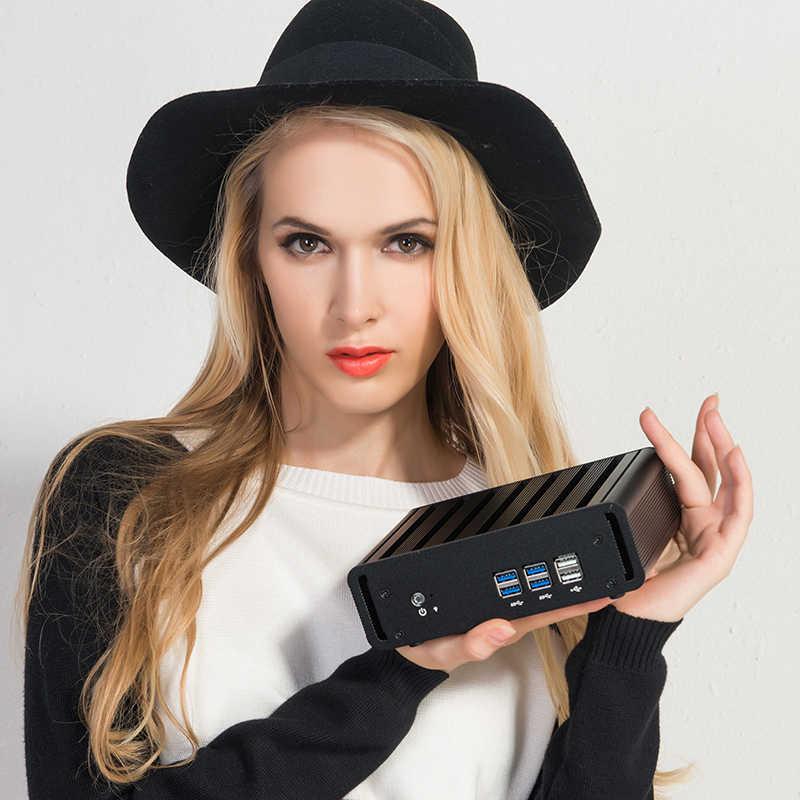 XCY X31 Мини ПК i7 7500U i5 7200U i3 7100U Windows 10 компактный настольный ПК в формате 4K UHD, HTPC HDMI 300 м Wi-Fi Gigabit Ethernet 6xusb