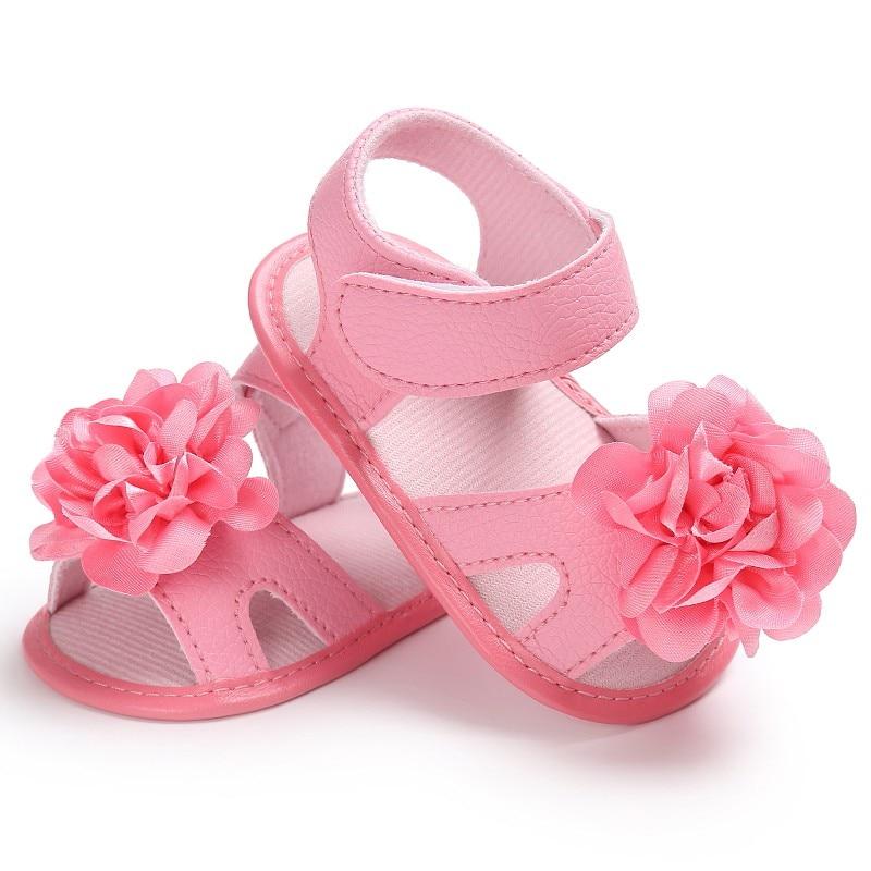Summer Sweet Baby Girls Princess Flower Crib Infant Toddler Soft Soled Shoes Sandal New D