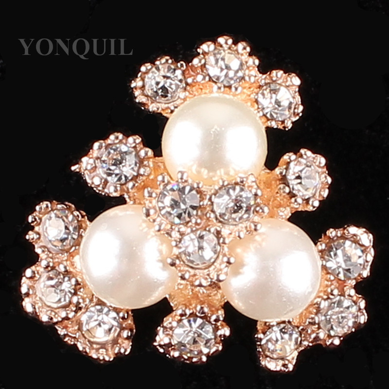 20*20 MM Size High quality peals and rhinestone brooches pins material bridal wedding DIY jewelry accessories 15pcs/lot SYBB103