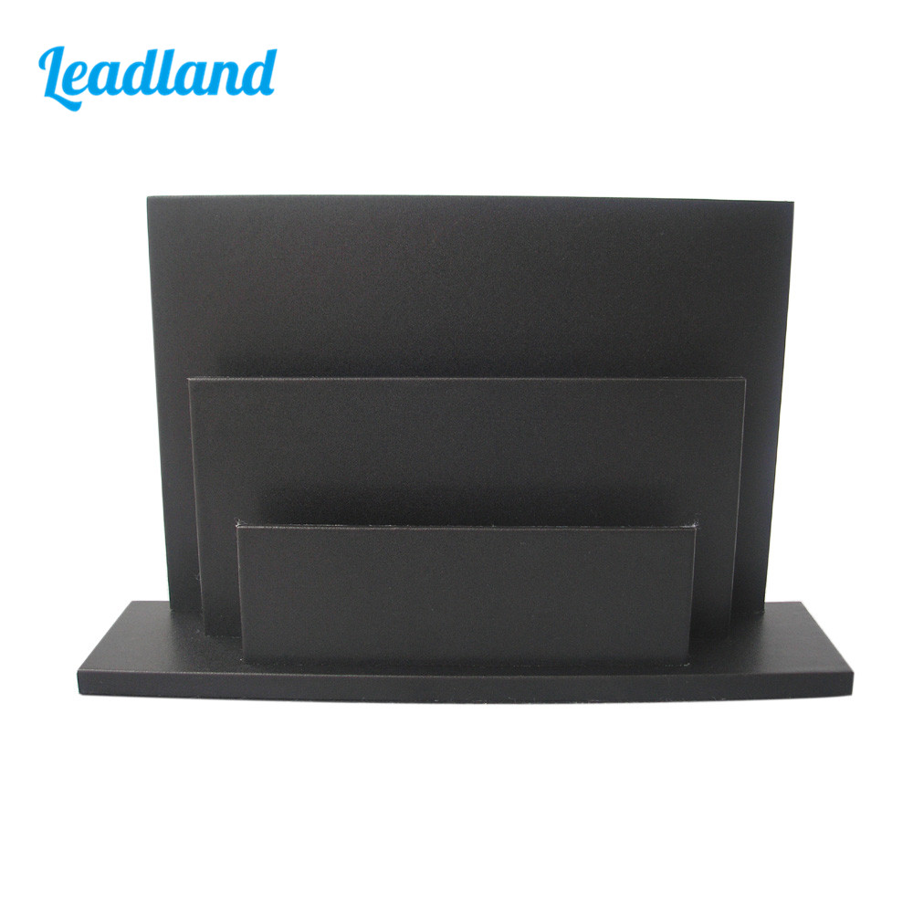 Brochure Book Magazine Display Rack Holder Stand Shelf For Hotel Restaurant Decoration Black 1279 a4 4 layer half page brochure holder book data file holder display rack acrylic data file brochure display stand