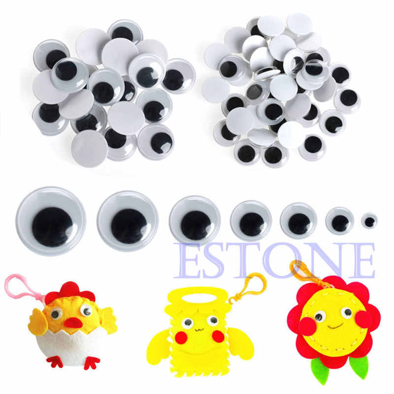 520 шт Wiggly Wobbly Googly Eyes самоклеющиеся предметы для скрапбукинга смешанные 6 8 10 12 14 20 мм