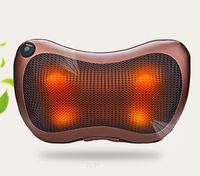 Multifunction Vibration Massager Pillow Automobiles Home Dual Use Infrared Heating Relax Cervical Vertebra Leg Heating Therapy