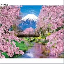 Алмазная живопись dz015 Гора Фудзи вышивка Стразы алмазная полная