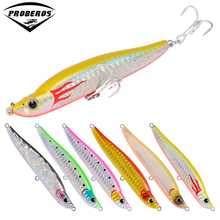 1PC Pencil Fishing Lures 10cm-3.94″/17g-0.6oz Artificial Bait 6# Treble Hooks Bionic 3D Eyes Bass Baits 10 Colors Jigging Baits