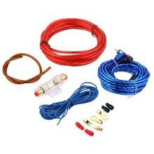 Nuevo Kit de Cable de Alambre 8GA Subwoofer Audio Del Altavoz Del Amplificador de Energía Del Coche Con Sistema de Audio Portafusibles Proteger E # A