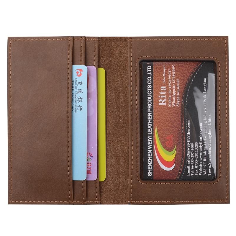 ONLVAN Cüzdan Unisex Deri Küçük Seyahat Kredi Kartları Tutucular - Cüzdanlar - Fotoğraf 3