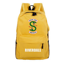 Riverdale Backpack Fashion Camouflage Solid Schoolbag Women and Men Candy Color Schoolbag Laptop Travel School Bag Mochila 2019(China)