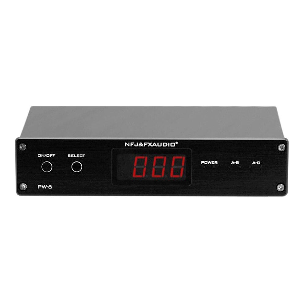 FX-Audio PW-6 Amplificador HIFI Numérique Audio Amplificateur Switcher Spiltter Sélecteur Crossover 2-Façon Haut-Parleur Amp Convertisseur