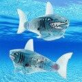 Alimentado Por Bateria de 1 Pcs Natação Robô Peixe Ativado Robô Tubarão Brinquedo Clássico Azul Bebê Infantil Brinquedo De Banho para Crianças