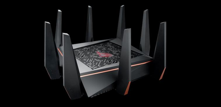ASUS GT-AC5300 Tri-band WiFi Gaming router for VR and 4K streaming, with quad-core processor, gaming port image