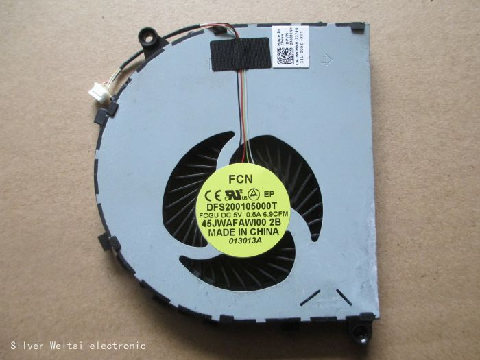 CPU fan for DELL VOSTRO 5560 V5560 laptop cooling fan MF75070V1- C120-S99 0M0MNH M0MNH 45JWAFAWI00 DFS200105000T FCGU