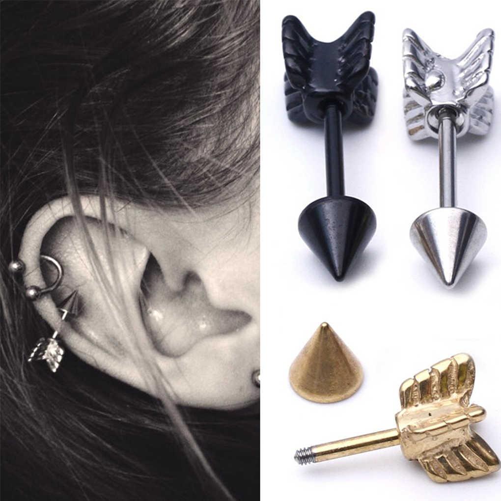 Arrow Shape Body Jewelry Ear Tragus Piercing Cartilage Earring Stainless Steel Stud Earrings
