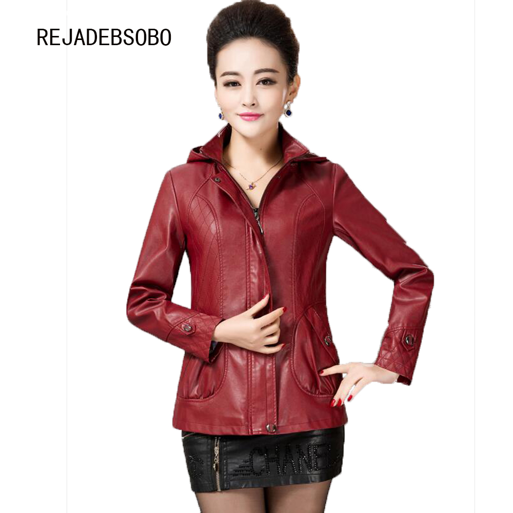 Leather jacket xl size - 5xl Plus Size Women Leather Clothing Autumn And Winter Hooded Casual Leather Jacket Women Large Size