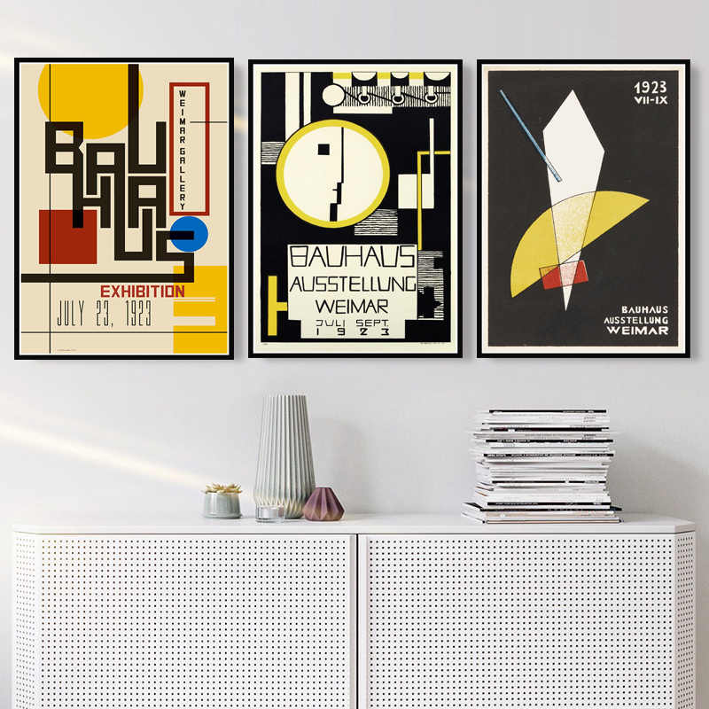Bauhaus Ausstellung 1923 Weimer Exhibition Art Poster Canvas Painting Wall Picture Home Decor Posters and Prints