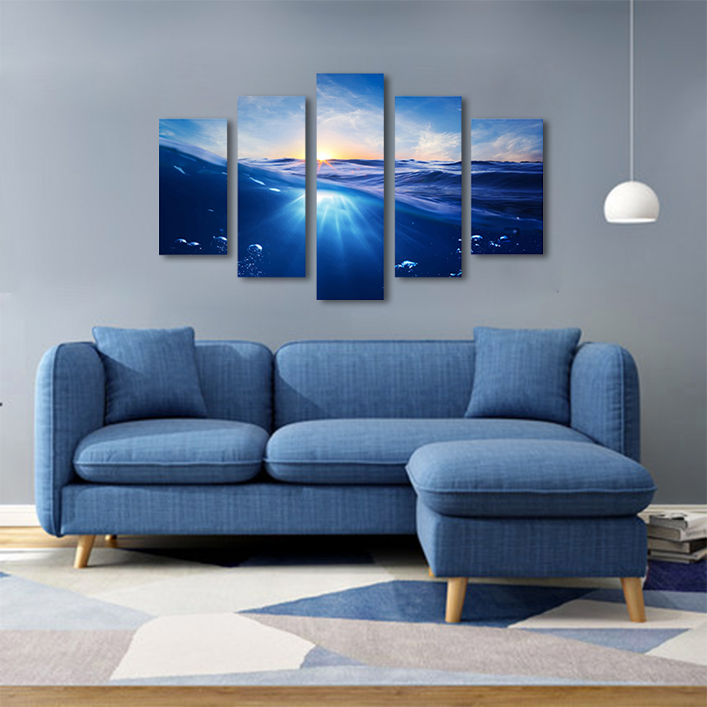 Unframed Canvas Painting Sea Level Blue Sea Water Sunlight Photo Picture Prints Wall Picture For Living Room Wall Art Decoration