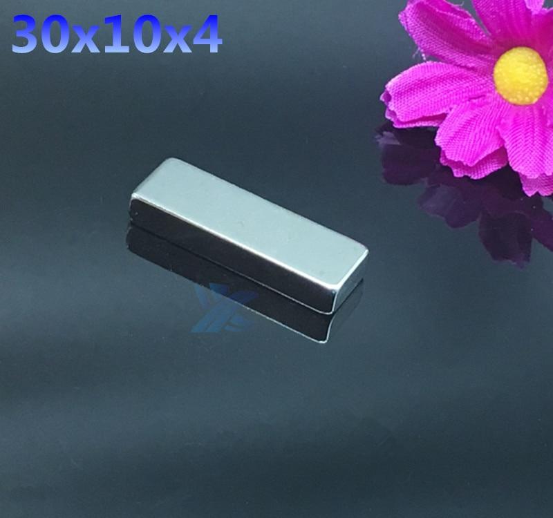 10pcs N35 Super Strong Rare Earth Magnet Block Powerful Fridge to Neodymium Bar Magnets 30x10x4mm Free Shipping 30*10*4 free shipping 10pcs 2n4403 to 92