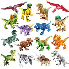 16 pcs Jurassic Dinossauro Figura Animal Selvagem Mundo Pterosauria T-Rex Toy Building Block compatível com legoings