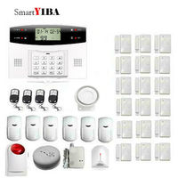 SmartYIBA Russian Spanish French Italian Voice Wireless GSM Home Security Alarm System Wireless Siren Gas Fire Smoke Detector
