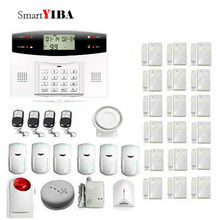 SmartYIBA Russian Spanish French Italian Voice Wireless GSM Home Security Alarm System Wireless Siren Gas Fire