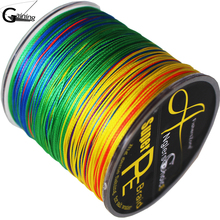 купить 8 Strands Braided Fishing line 300m Multi Color Super Strong Japan Multifilament PE braid line 10LB 20LB 30LB 40LB 100LB200LB дешево