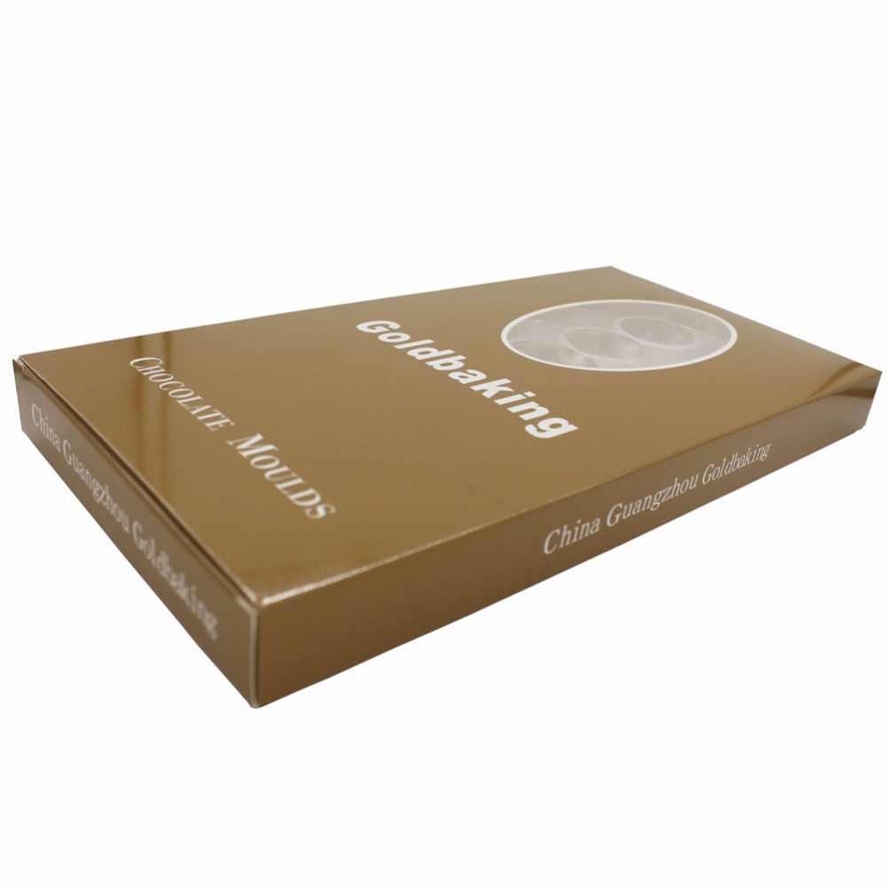 قالب شوكولاتة لوتس من غولدبيكينغ على شكل زيتون من البولي كربونات قالب حلوى ثلاثي الأبعاد