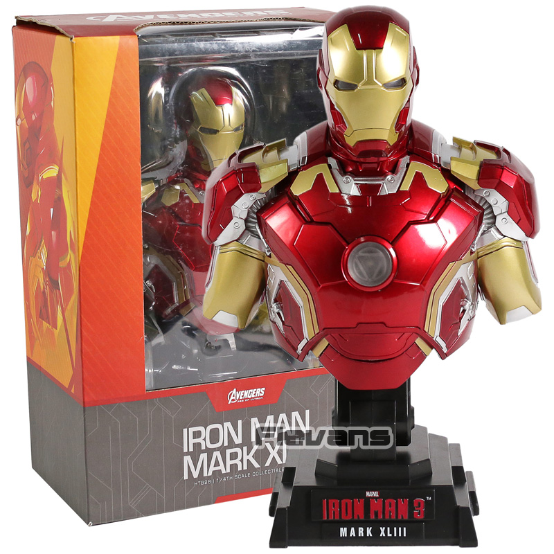 Iron Man 3 MARK XLIII MK 43 1/4 Scale Limted Edtion Collectible Bust PVC Figure Collectible Model ToyIron Man 3 MARK XLIII MK 43 1/4 Scale Limted Edtion Collectible Bust PVC Figure Collectible Model Toy