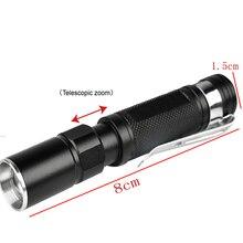 Portable Mini Penlight CREE Q5 2000LM LED Flashlight Torch Pocket Light Waterproof Lantern AAA Battery Powerful Led For Hunting