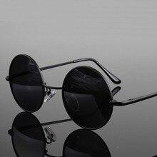 Vintage Round Polarized Sunglasses for Men