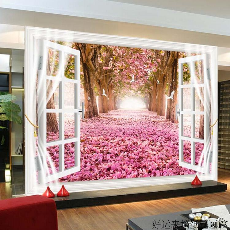 Custom 3d mural Custom large scenic mural wallpaper TV backdrop ...