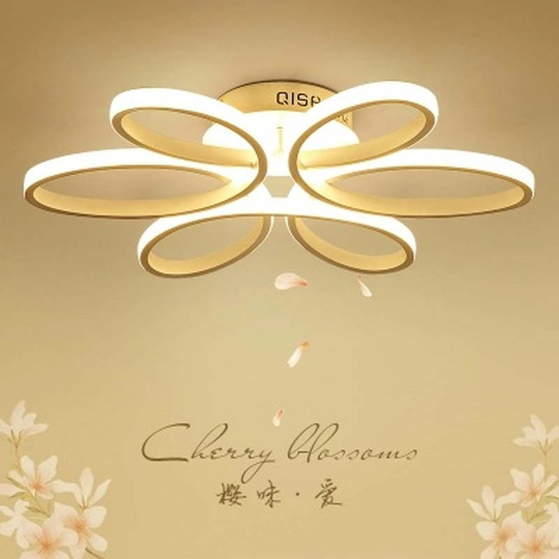 Modern Minimalist Living Room Ceiling Lamp Originality Personality Nordic LED Lamps Warm Romantic Flowers Bedroom Lamps