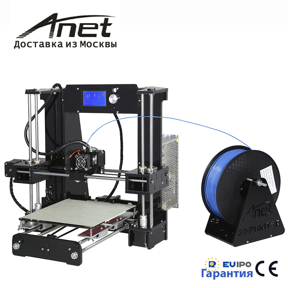 2018 new Anet A6 3D printer/high precision quality big hot bed i3 reprap/better screen for manage/ fast shippment from RU admin manage
