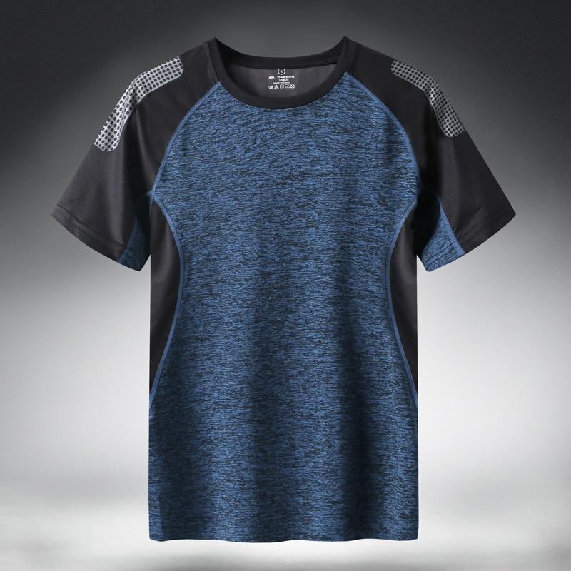 Quick Dry Sport T Shirt Men 2020 Short Sleeves Summer Casual Cotton Plus Asian Size M-5XL 6XL 7XL Top Tees GYM Tshirt Clothes