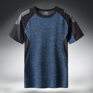 Quick Dry Sport T Shirt Men 2020 Short Sleeves Summer Casual Cotton Plus Asian Size M-5XL 6XL 7XL Top Tees GYM Tshirt Clothes(China)