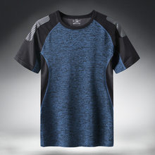 Quick Dry Sport T Shirt Men 2021 Short Sleeves Summer Casual Cotton Plus Asian Size M-5XL 6XL 7XL Top Tees GYM Tshirt Clothes