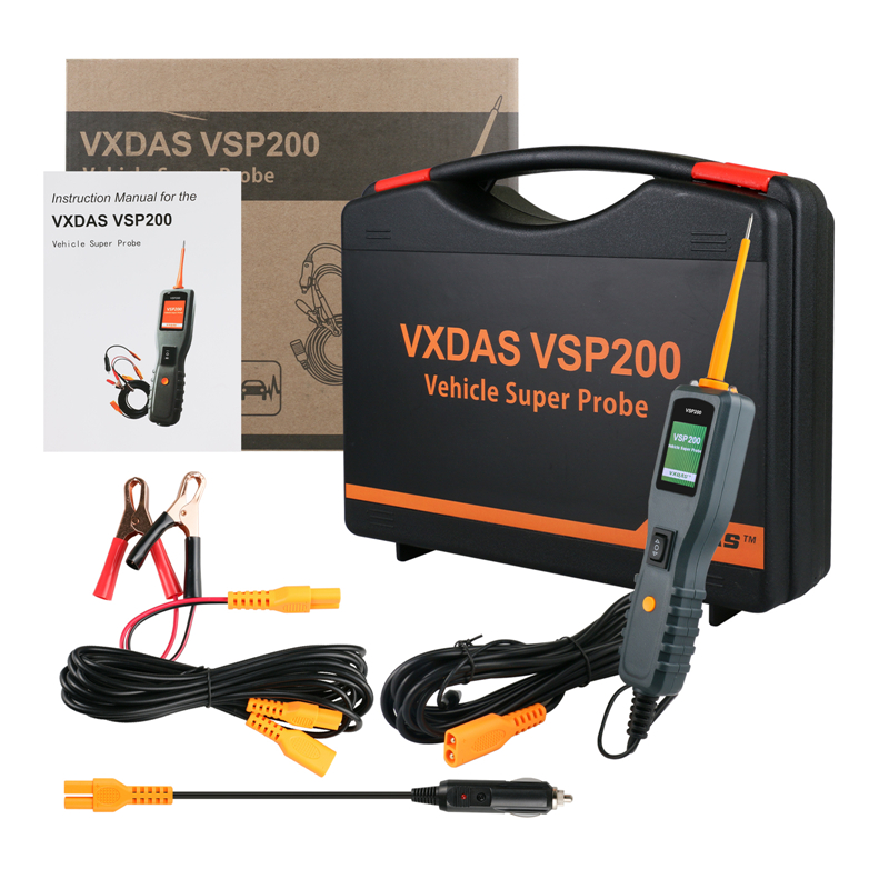VXDAS VSP200 Vehicle Super Probe Circuit Tester Kit More Powerful than AUTEK YD208 Car Electric Circuit Tester vxdas vsp200 vehicle super probe power scan tool vsp200 electrical system circuit tester vsp200 to test diode and show values