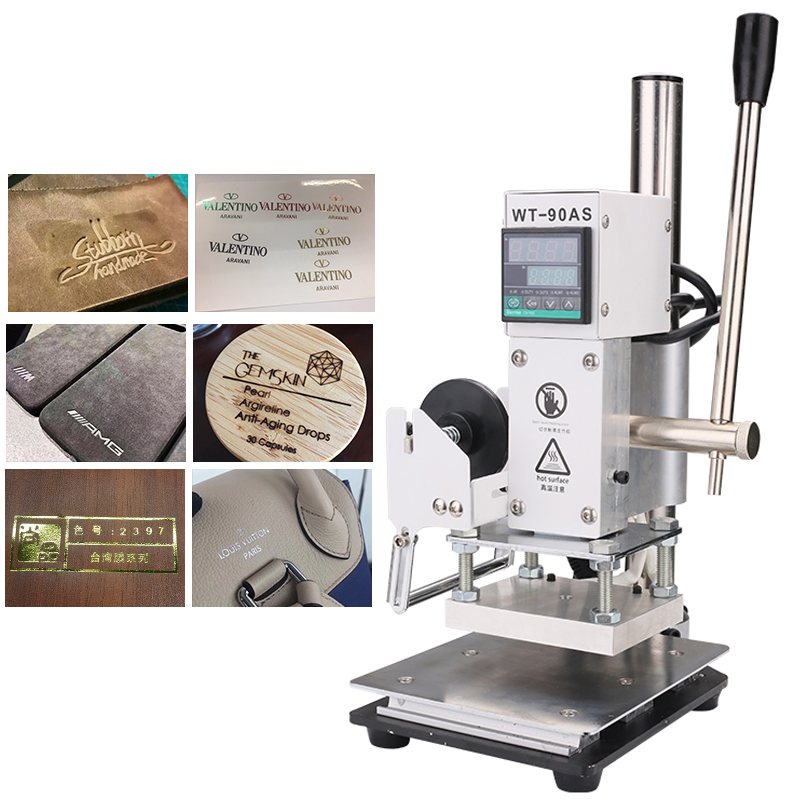 Hot Foil Stamping Machine Manual Bronzing Machine for PVC Card leather paper embossing Logo Heat Press