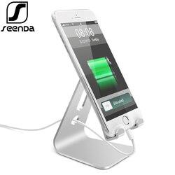 SeenDa uniwersalny stojak na Tablet ze stopu Aluminium uchwyt na biurko do telefonu stojak do ładowania uchwyt do iphone'a metalowy stojak na ipada