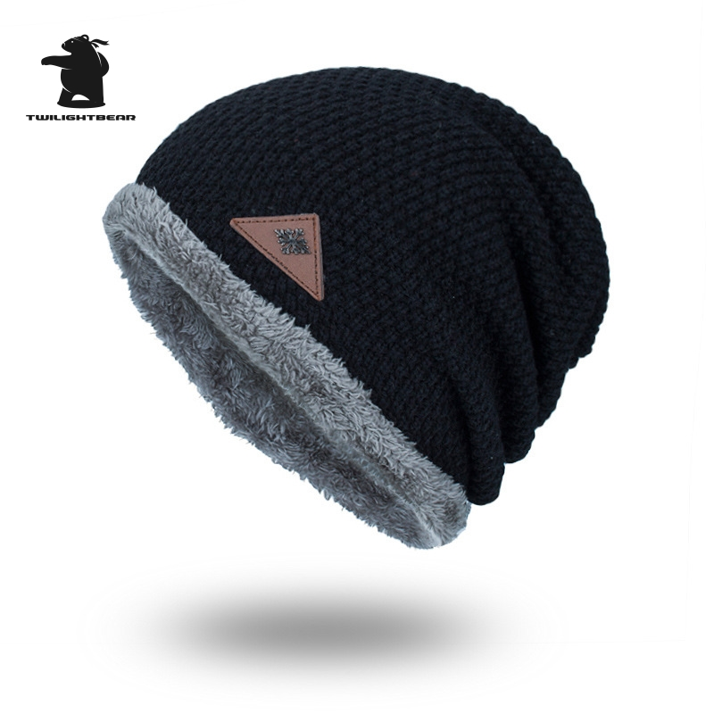 2017 New Men's Winter Hat Fashion Fleece Skiing Beanies Caps Warm Knitted Beanie Bonnet hats men Gorros Invierno Cappelli CY6E65 unisex letter dragon winter hats skullies beanies men woman beanie knitting hat knitted cap new design invierno bonnets gorros