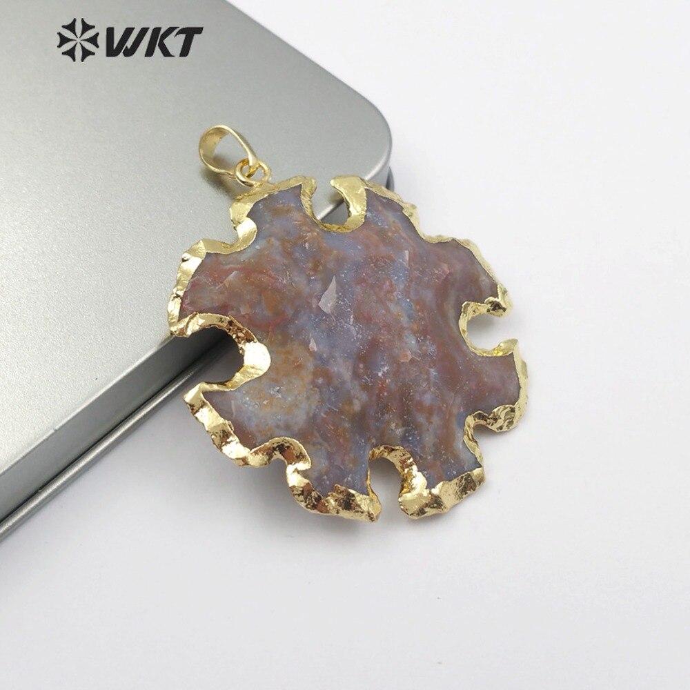 WT P1443 Natürliche Achate Schmuck Grau & Braun Farbe Sunflower Form Achate Anhänger Frauen Halskette Anhänger Schmuck|Anhänger|   - AliExpress