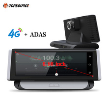 TOPSOURCE Car DVR Full HD 1080P 6.86 Android 5.1 Video Recorder 4G ADAS Dual Lens Bluetooth Camera GPS Navigation 1GB RAM